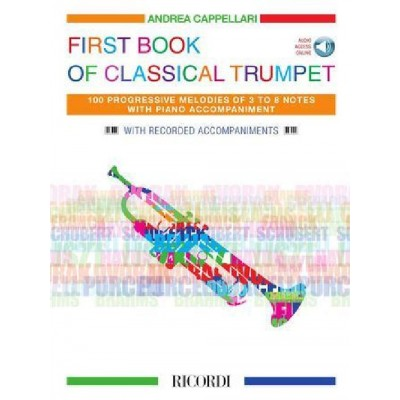 RICORDI FIRST BOOK OF CLASSICAL TRUMPET - TRUMPET AND PIANO