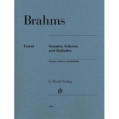HENLE VERLAG JOHANNES BRAHMS - SONATAS, SCHERZO AND BALLADS PB