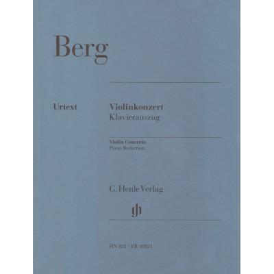EDITION BREITKOPF BERG ALBAN - VIOLINKONZERT - VIOLIN, PIANO