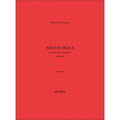 RICORDI SCIARRINO S. - MELANCOLIA I - VIOLONCELLE (1 OU 2) ET PIANO