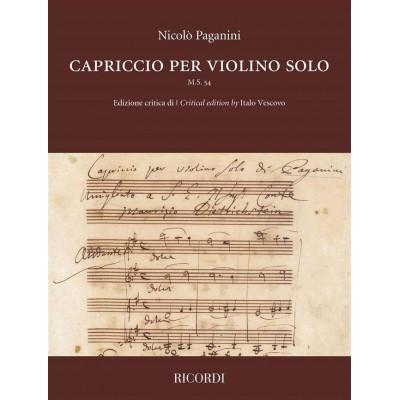 RICORDI CAPRICCIO PER VIOLINO SOLO M.S. 54