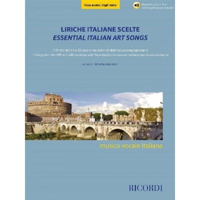 RICORDI LIRICHE ITALIANE SCELTE - VOCE ACUTA - VOCAL AND PIANO