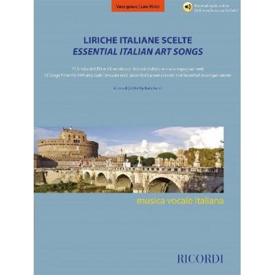 RICORDI LIRICHE ITALIANE SCELTE - VOCE GRAVE - VOCAL AND PIANO