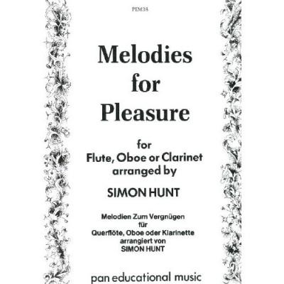 PAN EDUCATIONAL MUSIC MELODIES FOR PLEASURE - FLUTE (HAUTBOIS, CLARINETTE)