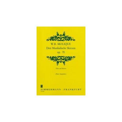 ZIMMERMANN MOLIQUE B. - DREI MUSIKALISCHE SKIZZEN OP.70 - FLUTE ET PIANO