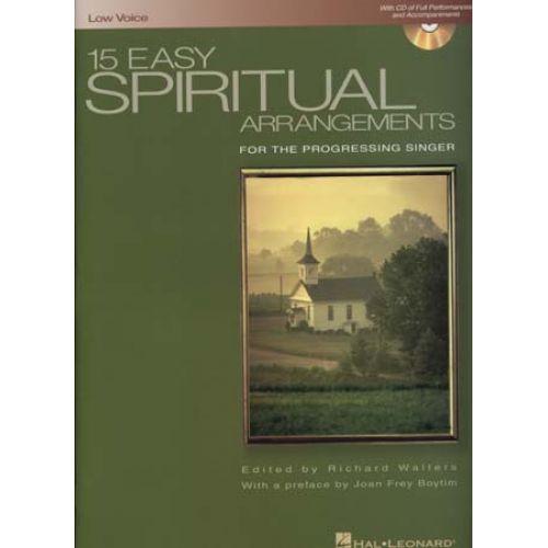 HAL LEONARD 15 EASY SPIRITUAL ARANGEMENTS + CD - PVG