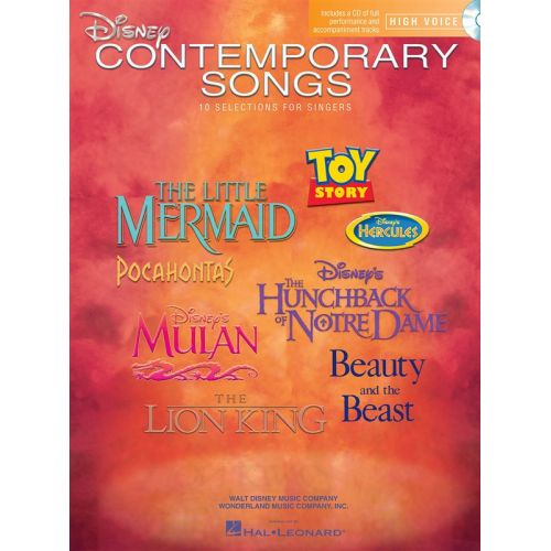 HAL LEONARD DISNEY CONTEMPORARY SONGS FOR - HIGH VOICE