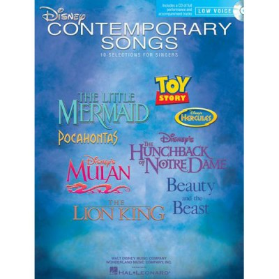HAL LEONARD DISNEY CONTEMPORARY SONGS FOR LOW VOICE - LOW VOICE