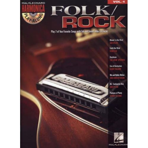 HAL LEONARD HARMONICA PLAY ALONG VOL.4 - FOLK/ROCK + CD