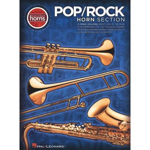HAL LEONARD POP/ROCK HORN SECTION (SAXOPHONE, TRUMPET) TRANSCRIBED HORNS