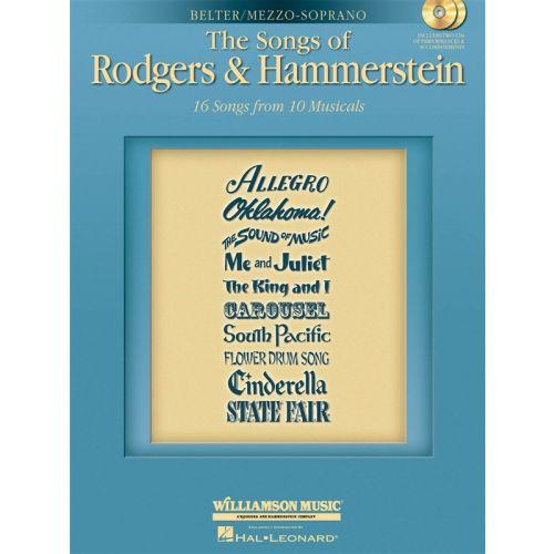 MUSIC SALES SONGS RODGERS HAMMERSTEIN MEZ+ 2CD - MEZZO-SOPRANO