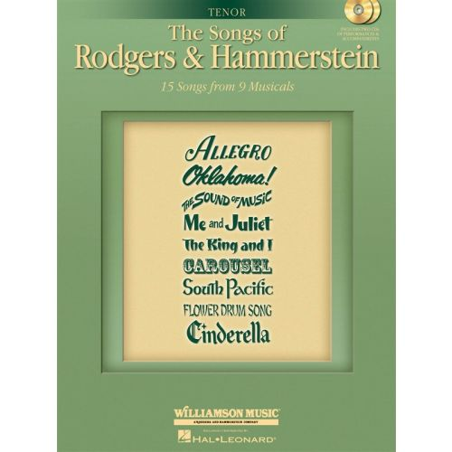MUSIC SALES RICHARD RODGERS - THE SONGS OF RODGERS HAMMERSTEIN TENOR+ 2CD