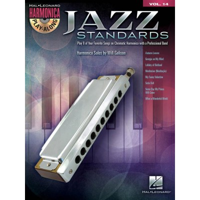 HAL LEONARD JAZZ STANDARDS - HARMONICA PLAY ALONG VOL.14 + CD