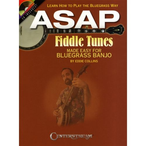 HAL LEONARD ASAP FIDDLE TUNES MADE EASY FOR BLUEGRASS BANJO TAB + CD - BANJO