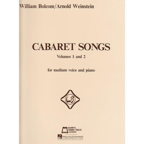 HAL LEONARD BOLCOM W. - CABARET SONGS 1 & 2