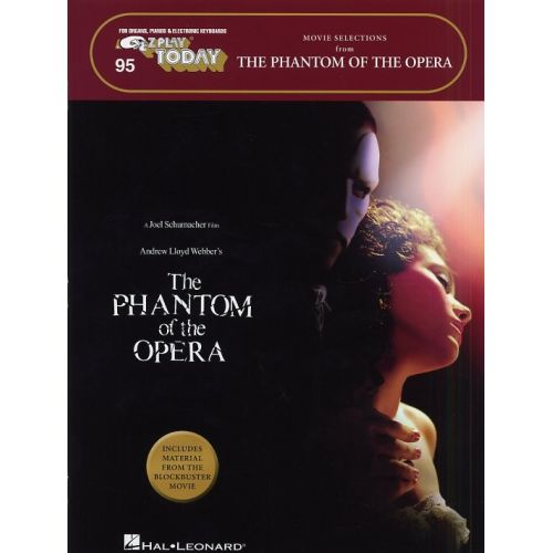 HAL LEONARD E-Z PLAY TODAY 95 PHANTOM OF THE OPERA MOVIE SELECTIONS KBD - KEYBOARD