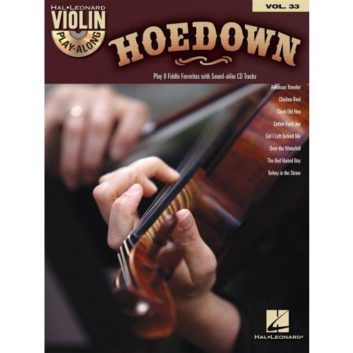 HAL LEONARD VIOLIN PLAY ALONG VOLUME 33 HOEDOWN + CD - VIOLIN