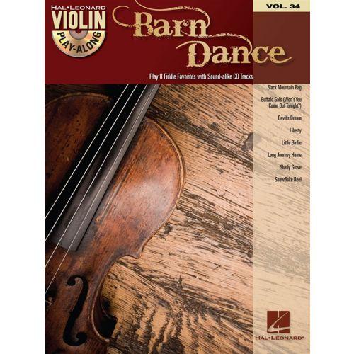 HAL LEONARD VIOLIN PLAY ALONG VOLUME 34 BARN DANCE + CD - VIOLIN