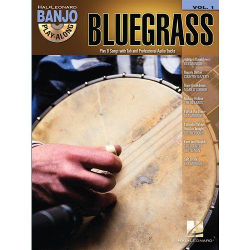 HAL LEONARD BANJO PLAY ALONG VOLUME 1 BLUEGRASS + CD - BANJO TAB