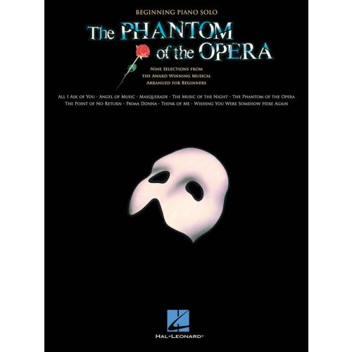 HAL LEONARD LLOYD WEBBER ANDREW THE PHANTOM OF THE OPERA BEGINNING - PIANO SOLO