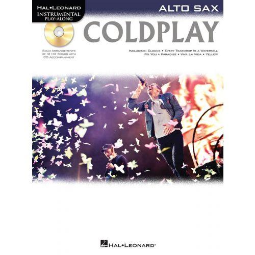 HAL LEONARD INSTRUMENTAL PLAY ALONG - COLDPLAY + CD - ALTO SAXOPHONE
