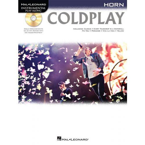 HAL LEONARD INSTRUMENTAL PLAY ALONG - COLDPLAY + CD - HORN