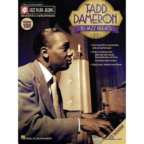 HAL LEONARD JAZZ PLAY ALONG VOL.168 - TADD DAMERON + CD