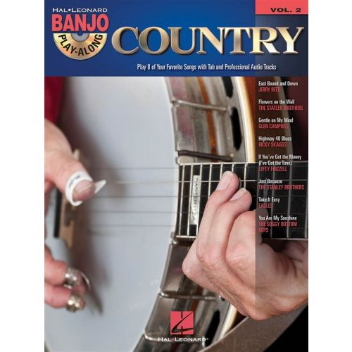 HAL LEONARD BANJO PLAY ALONG VOLUME 2 COUNTRY + CD - BANJO