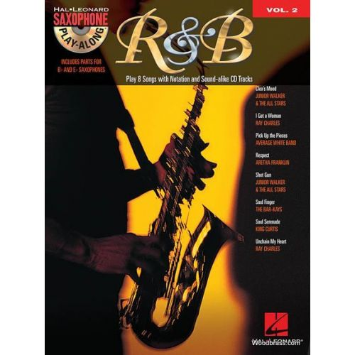 HAL LEONARD HAL LEONARD SAXOPHONE PLAY ALONG VOL.2 - R&B + CD