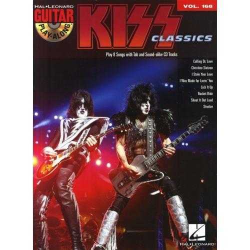 HAL LEONARD GUITAR PLAY ALONG VOLUME 168 KISS CLASSICS + CD - GUITAR