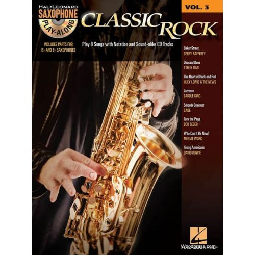 HAL LEONARD HAL LEONARD SAXOPHONE PLAY ALONG VOL.3 - CLASSIC ROCK + CD