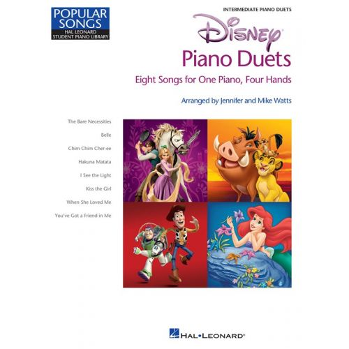HAL LEONARD DISNEY PIANO DUETS EIGHT SONGS FOR ONE PIANO FOUR HANDS - PIANO DUET