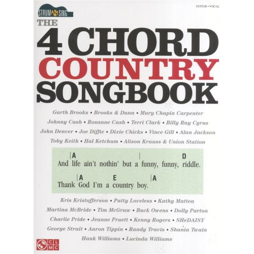 HAL LEONARD STRUM AND SING - THE 4 CHORD COUNTRY SONGBOOK EASY GUITAR - GUITAR