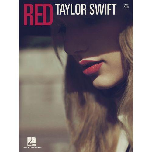 HAL LEONARD SWIFT TAYLOR RED EASY PIANO SONGBOOK - PIANO SOLO
