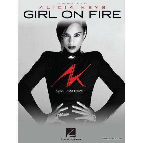 HAL LEONARD KEYS A. - GIRL ON FIRE - PVG