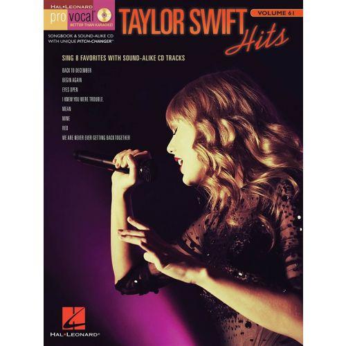 HAL LEONARD TAYLOR SWIFT - PRO VOCAL WOMEN'S EDITION VOLUME 61 - TAYLOR SWIFT - VOICE