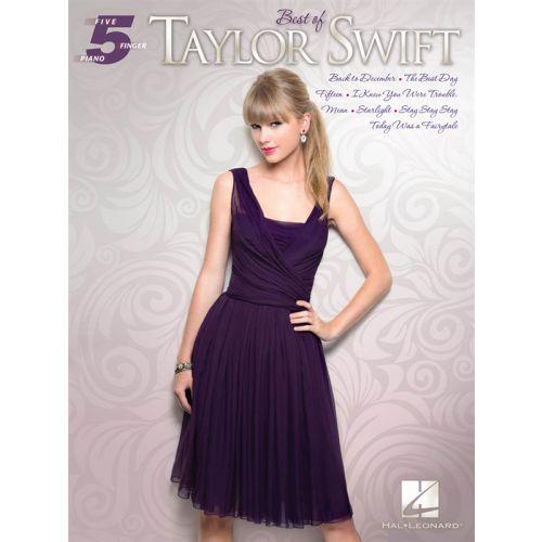HAL LEONARD TAYLOR SWIFT - FIVE FINGER PIANO - BEST OF TAYLOR SWIFT - PIANO SOLO