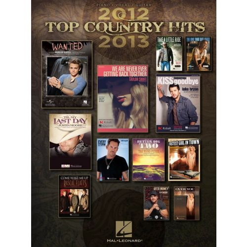 HAL LEONARD TOP COUNTRY HITS OF 2012-2013 - PVG