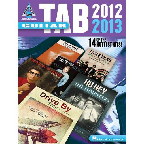 HAL LEONARD GUITAR TAB 2012-2013 SONGBOOK GUITAR RECORDED VERSION - GUITAR