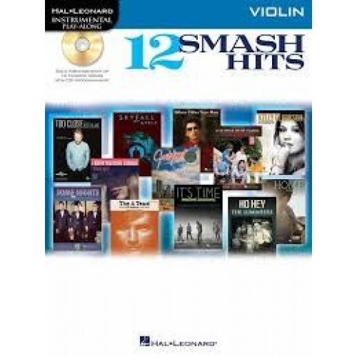 HAL LEONARD INSTRUMENTAL PLAY ALONG - 12 SMASH HITS + CD - VIOLIN