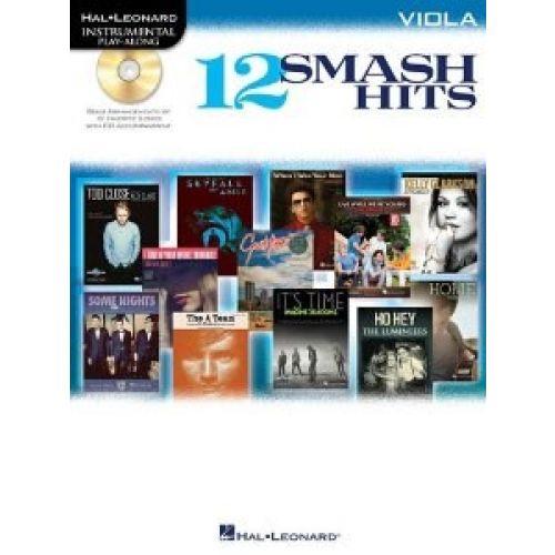 HAL LEONARD INSTRUMENTAL PLAY ALONG - 12 SMASH HITS + CD - VIOLA