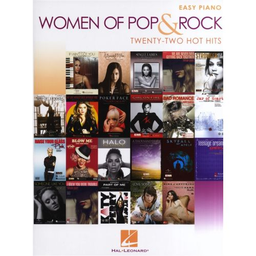 HAL LEONARD WOMEN OF POP AND ROCK EASY PIANO SONGBOOK - EASY PIANO