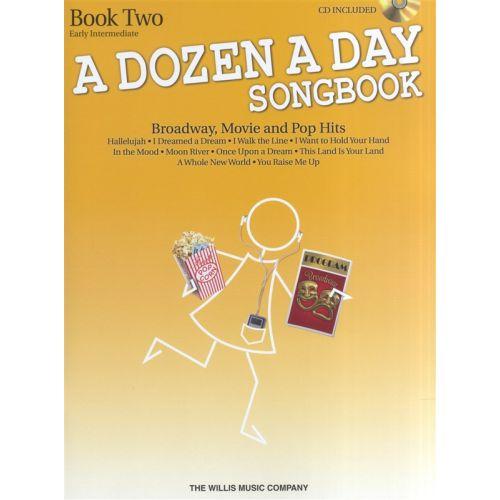 HAL LEONARD A DOZEN A DAY SONGBOOK BOOK 2 PIANO + CD - PIANO SOLO