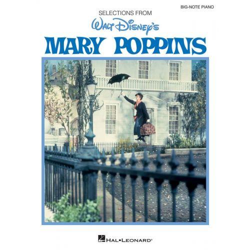 HAL LEONARD MARY POPPINS WALT DISNEY BIG NOTE PIANO VOCAL SELECTIONS - PIANO SOLO