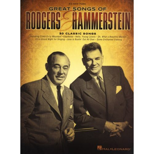 HAL LEONARD RODGERS AND HAMMERSTEIN GREAT SONGS OF BIG NOTE PF EASY - PIANO SOLO