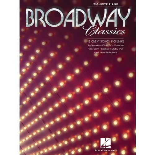 HAL LEONARD BROADWAY CLASSICS BIG NOTE - PIANO SOLO