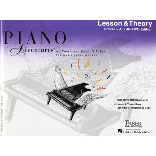 HAL LEONARD PIANO ADVENTURES ALL IN TWO PRIMER LESSON AND THEORY ANGLICISED - PIANO SOLO