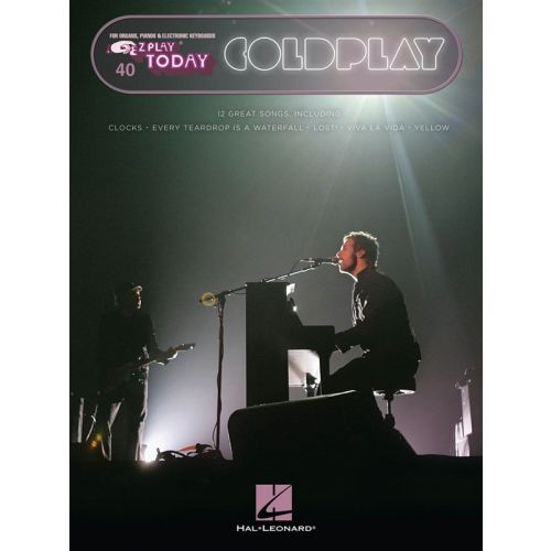HAL LEONARD EZ PLAY TODAY VOLUME 40 COLDPLAY - ORGAN