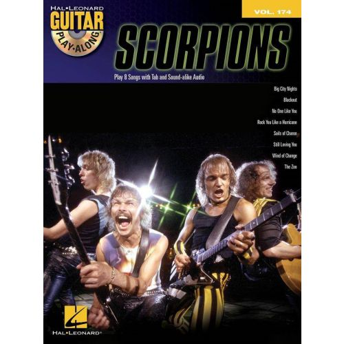 HAL LEONARD SCORPIONS - GUITAR PLAY ALONG VOL.174 + CD - GUITARE TAB