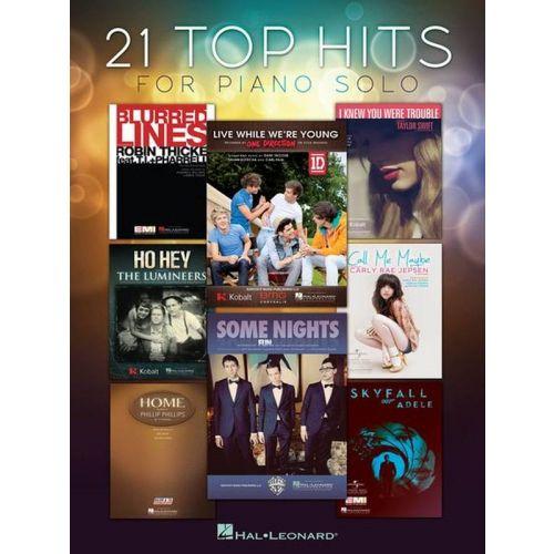 HAL LEONARD 21 TOP HITS - PIANO